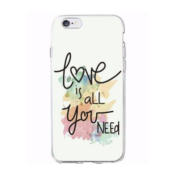 "Coque ""Love is all you need"" 💑 souple pour iPhone X/8/8 Plus/7/7 Plus/6s/6s Plus/6/6 Plus/5/5s/SE - Pomme Addict"