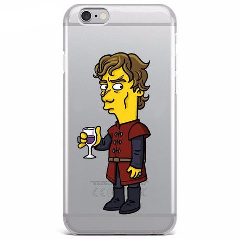 Coque mix GOT & Simpson souple pour iPhone 8/8 Plus/7/7 Plus/6s/6s Plus/6/6 Plus/5/5s/SE/5c/4/4s - Pomme Addict