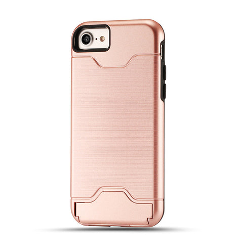 "Coque Fun "" Support + fente Carte 💳 "" iPhone Xs / Xs Max / Xr / X / 8 Plus / 8 / 7 Plus / 7 / 6 Plus / 6 / SE / 5s - PommeAddict.fr"