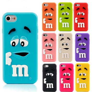 "Coque Fun "" M&M's 🍬 - silicone 3D "" iPhone Xs / Xs Max / Xr / X / 8 Plus / 8 / 7 Plus / 7 / 6 Plus / 6 / SE / 5s - PommeAddict.fr"