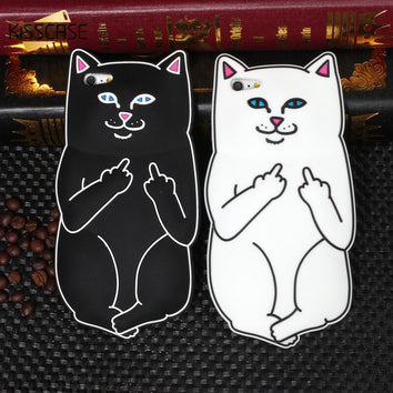"Coque Animaux 🐱 "" Chat 3D fuck - silicone "" iPhone Xs / Xs Max / Xr / X / 8 Plus / 8 / 7 Plus / 7 / 6 Plus / 6 / SE / 5s / 5 - PommeAddict.fr"