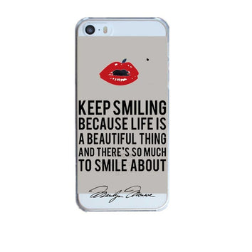 "Coque ""Keep smiling"" ? pour iPhone X/8/8 Plus/7/7 Plus/6s/6s Plus/6/6 Plus/5/5s/SE/4/4s - Pomme Addict"