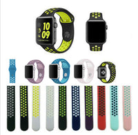 "Bracelet ⌚ iWatch - "" Sport silicone "" Apple 38 / 42mm - PommeAddict.fr"