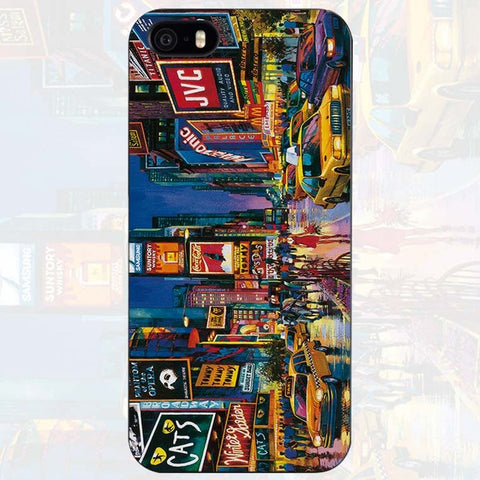 "Coque Pays 🌍 "" New York Times Square 🇺🇸 "" iPhone Xs / Xs Max / Xr / X / 8 Plus / 8 / 7 Plus / 7 / 6 Plus / 6 / SE / 5s - PommeAddict.fr"