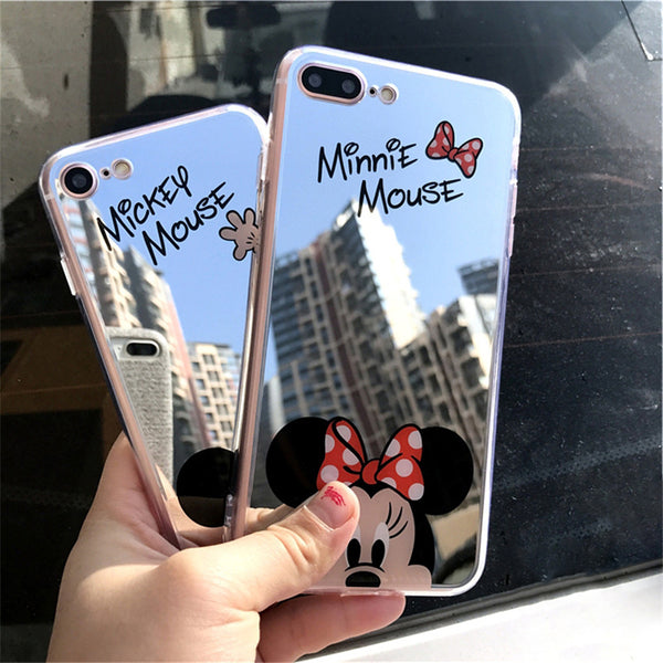 Coque miroir iPhone Mickey Mouse Minnie Mouse