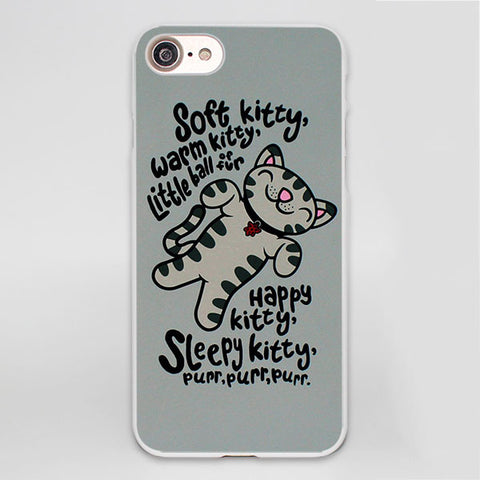 "Coque TBBT ""Soft Kitty"" pour iPhone 8/8 Plus/7/7 Plus/6s/6s Plus/6/6 Plus/5/5s/SE/5c/4s/4 - Pomme Addict"