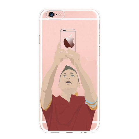 "Coque Foot ⚽ "" Francesco Totti - selfie 📸 "" iPhone Xs / Xs Max / Xr / X / 8 Plus / 8 / 7 Plus / 7 / 6 Plus / 6 / SE / 5s - PommeAddict.fr"