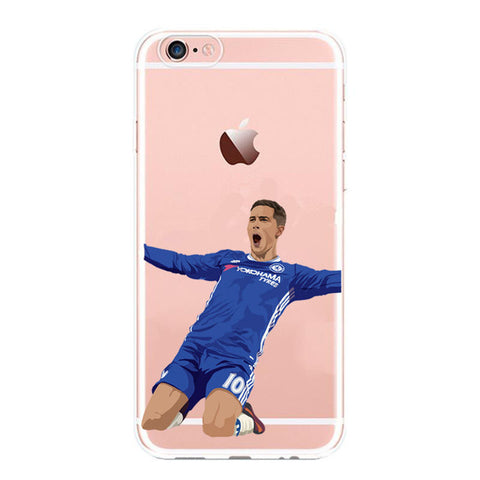 "Coque Foot ⚽ "" Eden Hazard "" iPhone Xs / Xs Max / Xr / X / 8 Plus / 8 / 7 Plus / 7 / 6 Plus / 6 / SE / 5s - PommeAddict.fr"