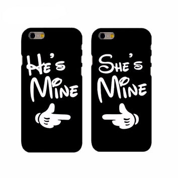 "Coque Meilleurs amies 👦👧 "" He's / She's Mine 💑 "" iPhone Xs / Xs Max / Xr / X / 8 Plus / 8 / 7 Plus / 7 / 6 Plus / 6 / SE / 5s - PommeAddict.fr"