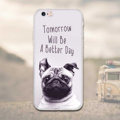 "Coque Citation 📖 "" Chien ( Tomorrow will be a better day) "" iPhone Xs / Xs Max / Xr / X / 8 Plus / 8 / 7 Plus / 7 / 6 Plus / 6 / SE / 5s - PommeAddict.fr"