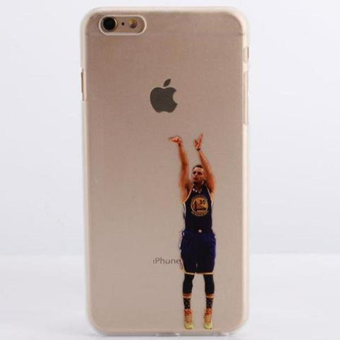 Coque Stephen Curry 🏀 Shoot pour iPhone 8/8 Plus/7/7 Plus/6s/6s Plus/6/6 Plus/5/5s/SE - Pomme Addict