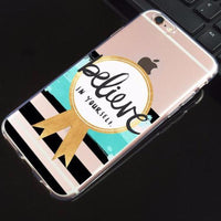 "Coque Citation 📖 "" Believe in yourself "" iPhone Xs / Xs Max / Xr / X / 8 Plus / 8 / 7 Plus / 7 / 6 Plus / 6 / SE / 5s - PommeAddict.fr"