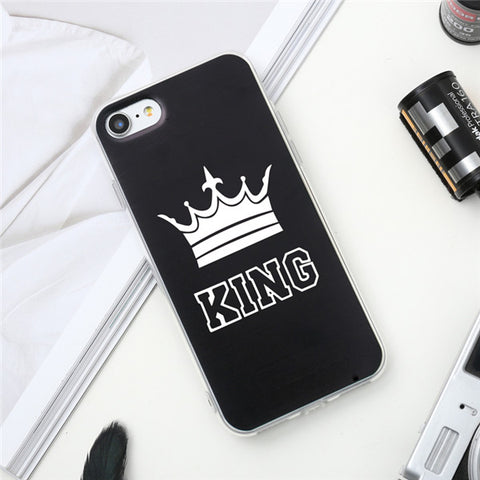 "Coque Meilleurs amies 👦👧 "" King 👑 Queen "" iPhone Xs / Xs Max / Xr / X / 8 Plus / 8 / 7 Plus / 7 / 6 Plus / 6 / SE / 5s - PommeAddict.fr"