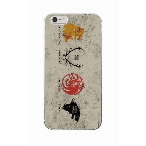 Coque Maisons Game of Thrones iPhone X/8/8 Plus/7/7 Plus/6s/6s Plus/6/6 Plus/5/5s/SE - Pomme Addict