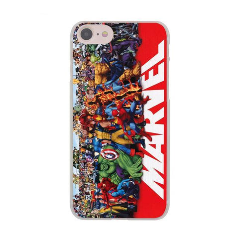 Coque personnages Marvel iPhone XR/iPhone XS/iPhone XS Max/iPhone X/8/8 Plus/7/7 Plus/6s/6s Plus/6/6 Plus/5/5s/SE/5C/4/4s - Pomme Addict