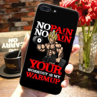 "Coque Vegeta ""No pain no gain"" iPhone XR/iPhone XS/iPhone XS Max/iPhone X/8/8 Plus/7/7 Plus/6s/6s Plus/6/6 Plus/5/5s/SE/5C - Pomme Addict"
