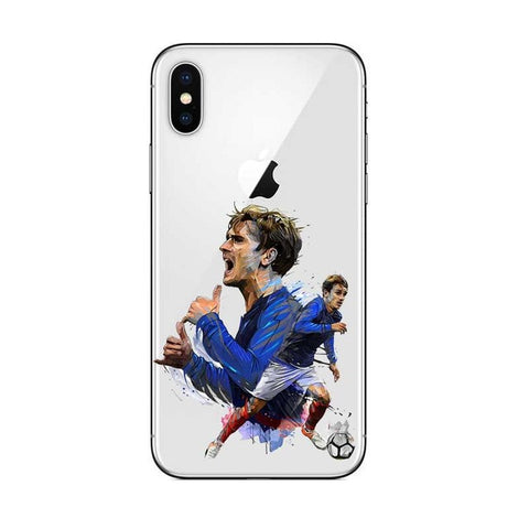Coque Griezmann France 2018 artistique ⚽ iPhone XR/iPhone XS/iPhone XS Max/iPhone X/8/8 Plus/7/7 Plus/6s/6s Plus/6/6 Plus/SE/5C - Pomme Addict