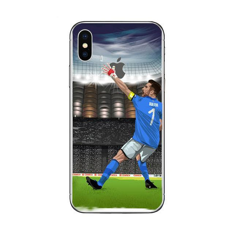 "Coque Foot ⚽ "" Gianluigi Buffon #3 "" iPhone Xs / Xs Max / Xr / X / 8 Plus / 8 / 7 Plus / 7 / 6 Plus / 6 / SE / 5s - PommeAddict.fr"