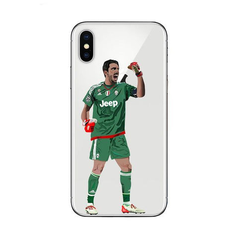 "Coque Foot ⚽ "" Gianluigi Buffon #2 "" iPhone Xs / Xs Max / Xr / X / 8 Plus / 8 / 7 Plus / 7 / 6 Plus / 6 / SE / 5s - PommeAddict.fr"