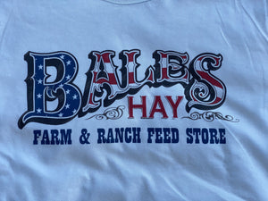 Bales Logo in Red, White, and Blue T-Shirt