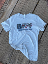 Load image into Gallery viewer, Bales Logo in Red, White, and Blue T-Shirt