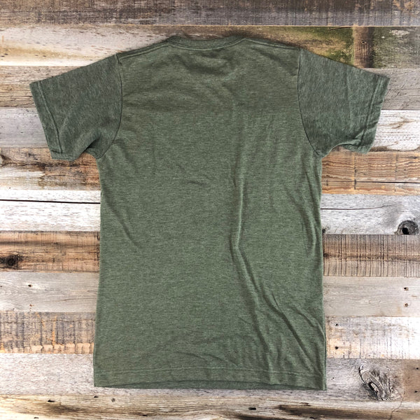 Men's Johnny Appleseed Tee- Heather Olive