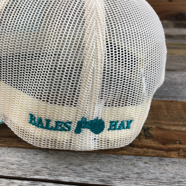 Herringbone Patch Hat- Teal