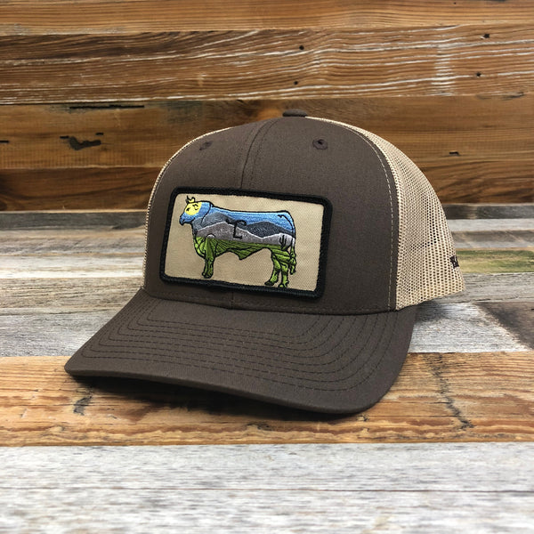 OG Cow Patch Trucker Hat - Brown/Tan
