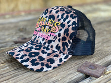 Load image into Gallery viewer, Wild and Wooly Leopard Print Hat with Original Bales Logo