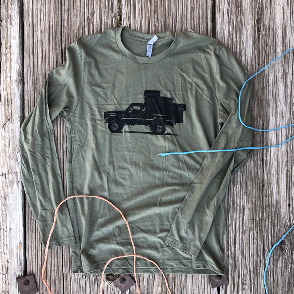 Square Body Hauler Long Sleeve - Military Green