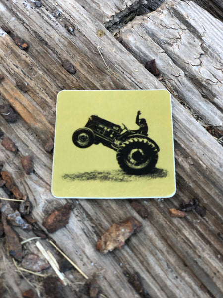 Bucking Tractor Sticker