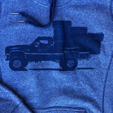 Load image into Gallery viewer, Women's Square Body Hauler Hoodie - Dark Heather Blue