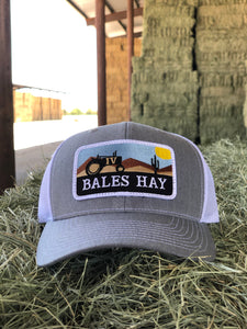 Bales Hay Tractor Patch Hat
