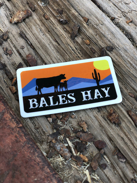 Cow & Calf Sunset Sticker