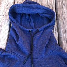 Load image into Gallery viewer, Women's horseshoe Hoodie - Dark Heather Blue