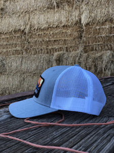Bales Hay Sunset Horse Patch Hat
