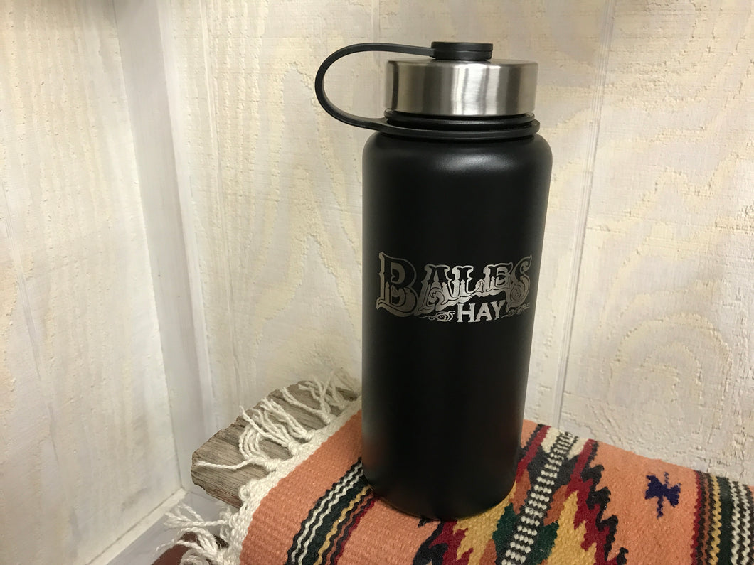 Growler 32oz Black with Laser Inscription