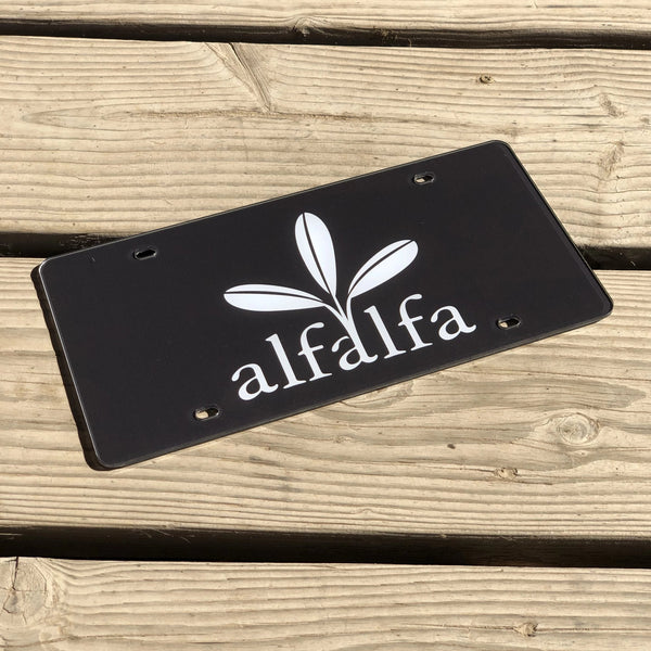 The Alfalfa Plate - Black