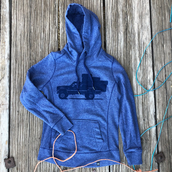 Women's Square Body Hauler Hoodie - Dark Heather Blue