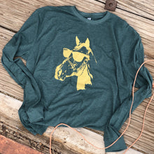 Load image into Gallery viewer, Cool Horse Long Sleeve - Heather Emerald