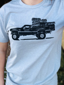 UNISEX Square Body Hauler Tee - Heather Grey