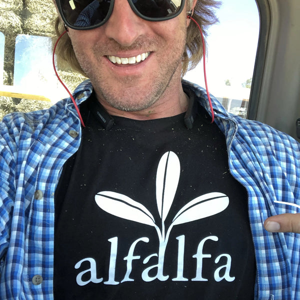 The Alfalfa Tee - Black