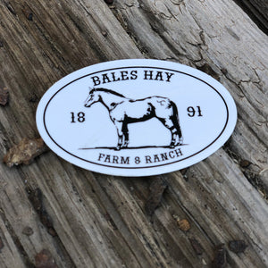 Oval Horse Patch Sticker