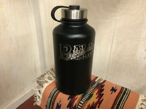 Growler 64oz Black with Laser Inscription