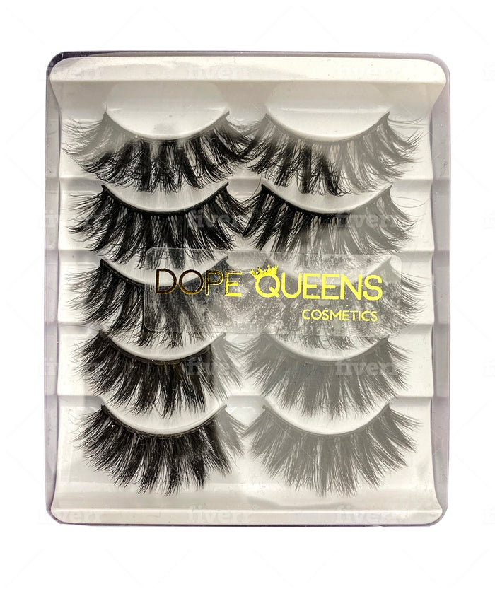 Drama Queen- 5 Pair 3D Mink Lashes