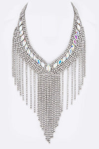 Gorgeous Rhinestone Necklace (AB) - Superior Boutique
