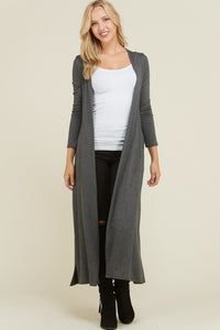 French Terry Long Sleeve Cardigan - Superior Boutique