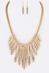 Flawless Crystal Bar Iconic Necklace Set - Superior Boutique