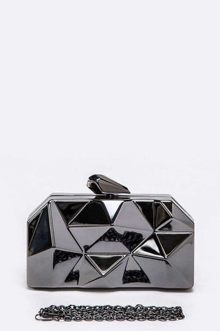 Iconic Box Clutch - Black