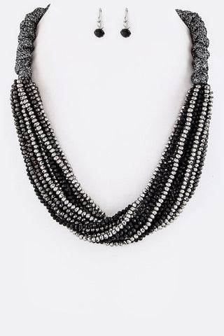 Multi-Layered Beaded Necklace Set - Superior Boutique